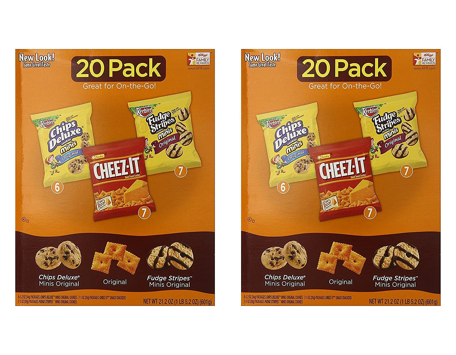 Amazon.com: Keebler Cookie and Cheez-It Variety Pack (20-Count ...