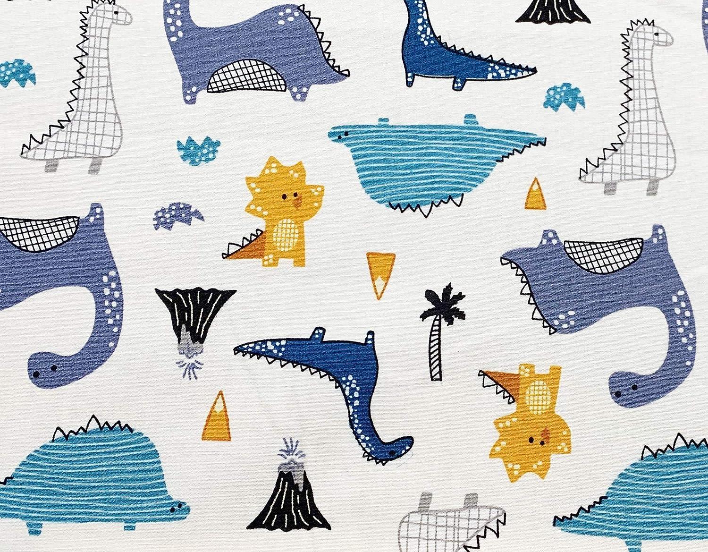 Oddies - Tela infantil con diseño de dinosaurio sobre fondo marfil ...