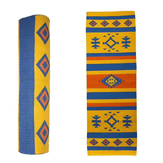 Handwoven Navajo Treasure Cotton Yoga Mat