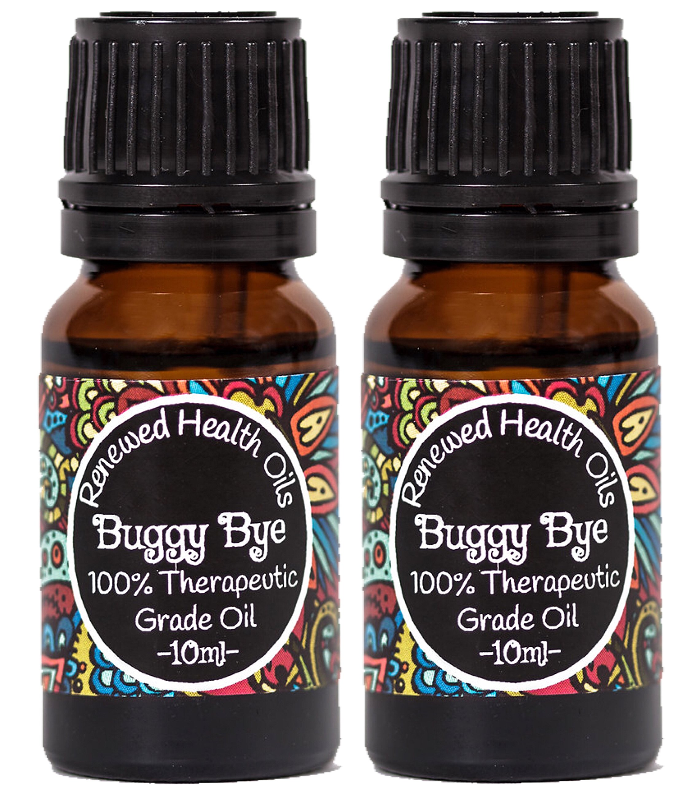 Insect Repellent Essential Oil Blend- Buggy Bye 10ml Deet Free Mosquito Tick Ants 100% Pure Essential Oil #1 Best Quality Aromatherapy Diffusing Oil(2 Pack) by Renewed Health Oils