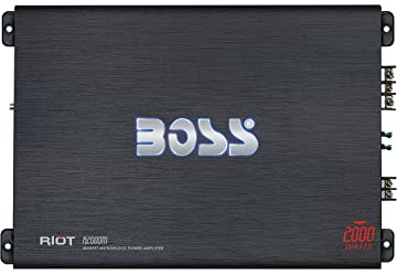 BOSS Audio R2000M - Riot 2000 Watt, 2/4 Ohm Stable Class A/
