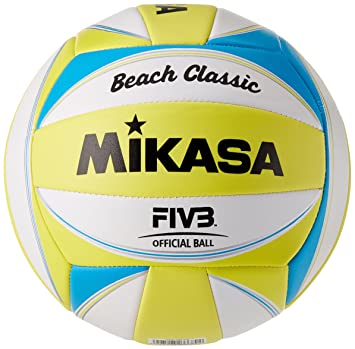 Mikasa beach classic 1613 - Pelota para volley playa, amarillo ...