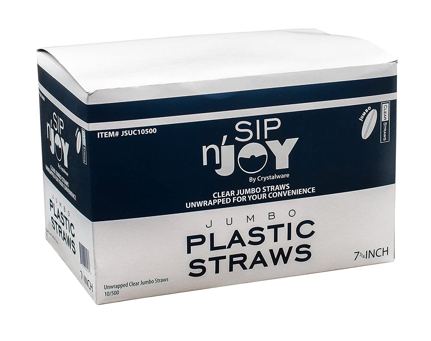 Amazon.com: Crystalware, Clear Plastic Straws, 7 3/4 Inches, Jumbo Pack 500 Straws: Health & Personal Care