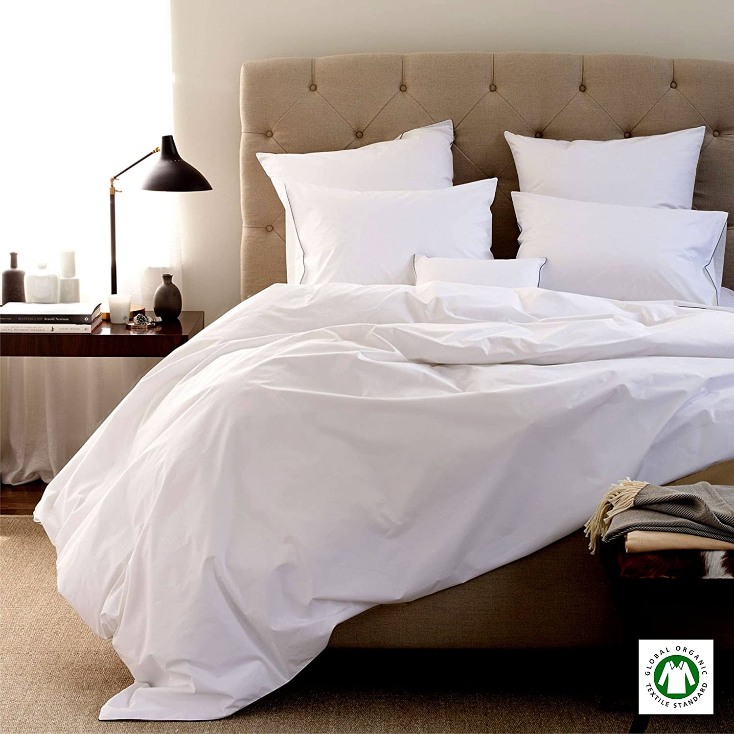 Attirant Amazon.com: Linen Souq MADE IN USA Sheet Set 100% Organic Cotton Italian  Finish 800 Thread Count, WHITE GOTS Certified 15 Inches Deep Pocket Solid  QUEEN: ...