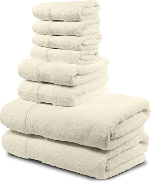 Bath Towels Luxury Turkish Cotton 4 Piece Extra Large Thick Soft Plush Absorbent