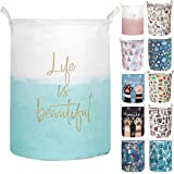 Merdes 19.7'' Waterproof Foldable Laundry Hamper, Dirty Clothes Laundry Basket, Linen Bin Storage Organizer for Toy…