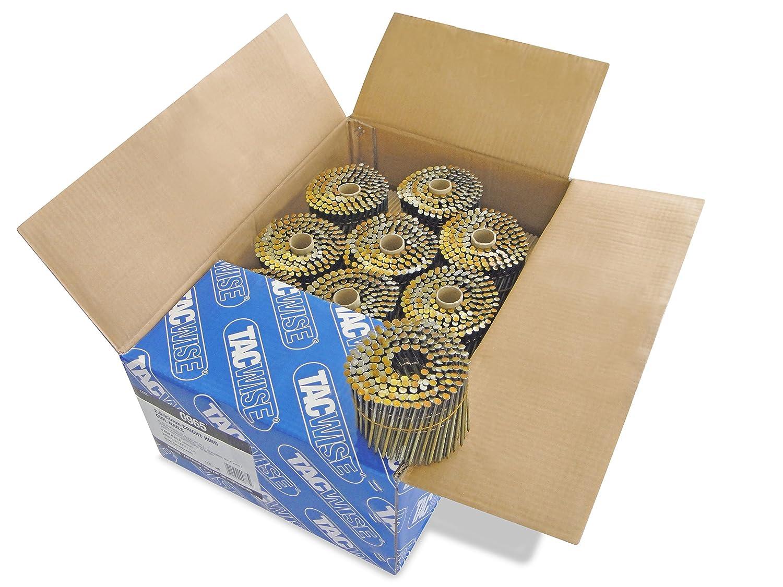 Set de 4000 Piezas 2.8x83mm Tacwise 0965 Bobina plana de clavos anillados 2.8//83 mm