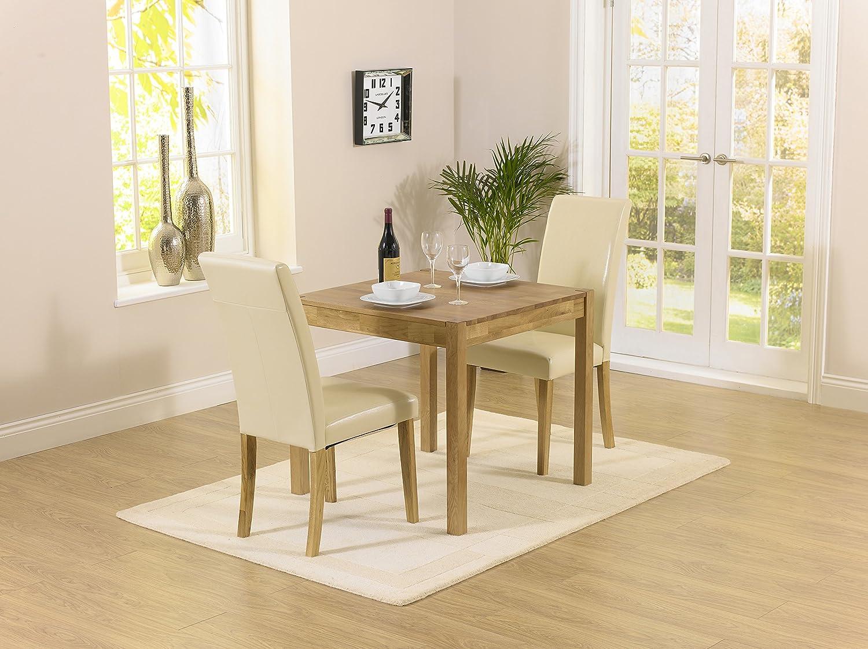 Montreal solidwood Möbel 2Esstisch Stuhl Set mit Stühle Atlanta creme