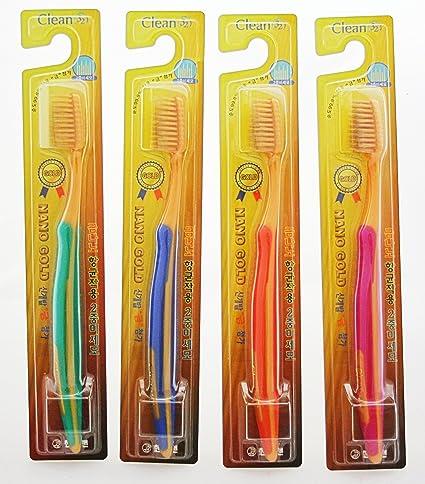 cepillo de dientes Nano Oro 4 Set (púrpura, naranja, verde, azul)