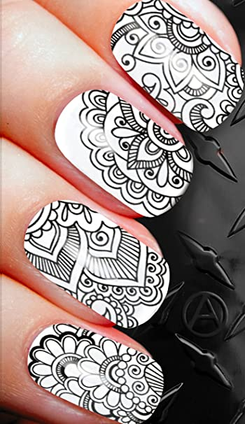 Amazon Black Egyptian Nail Art Decals Alternailtive Transfers