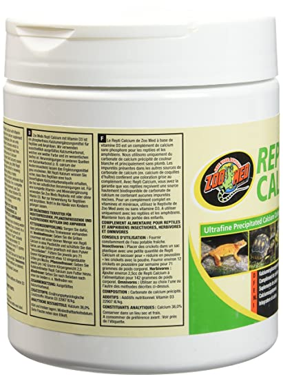 Amazon.com : Zoo Med Reptile Calcium with Vitamin D3, 8-Ounce : Pet ...