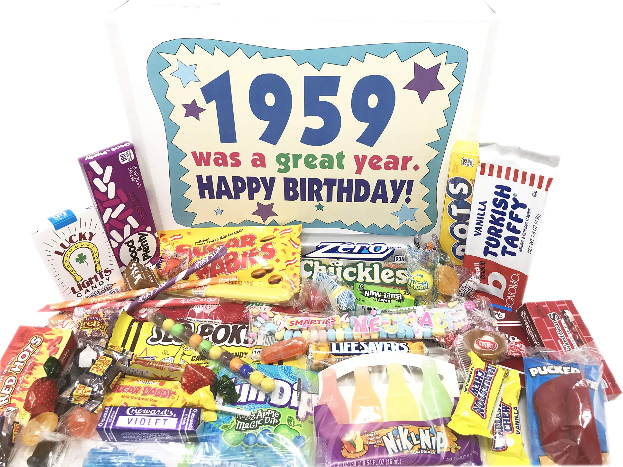Woodstock Candy ~ 60th Birthday Gift Ideas - Retro Vintage Candy Assortment from Childhood - 60 Years Old Birthday Gifts for Men and Women Born 1959
