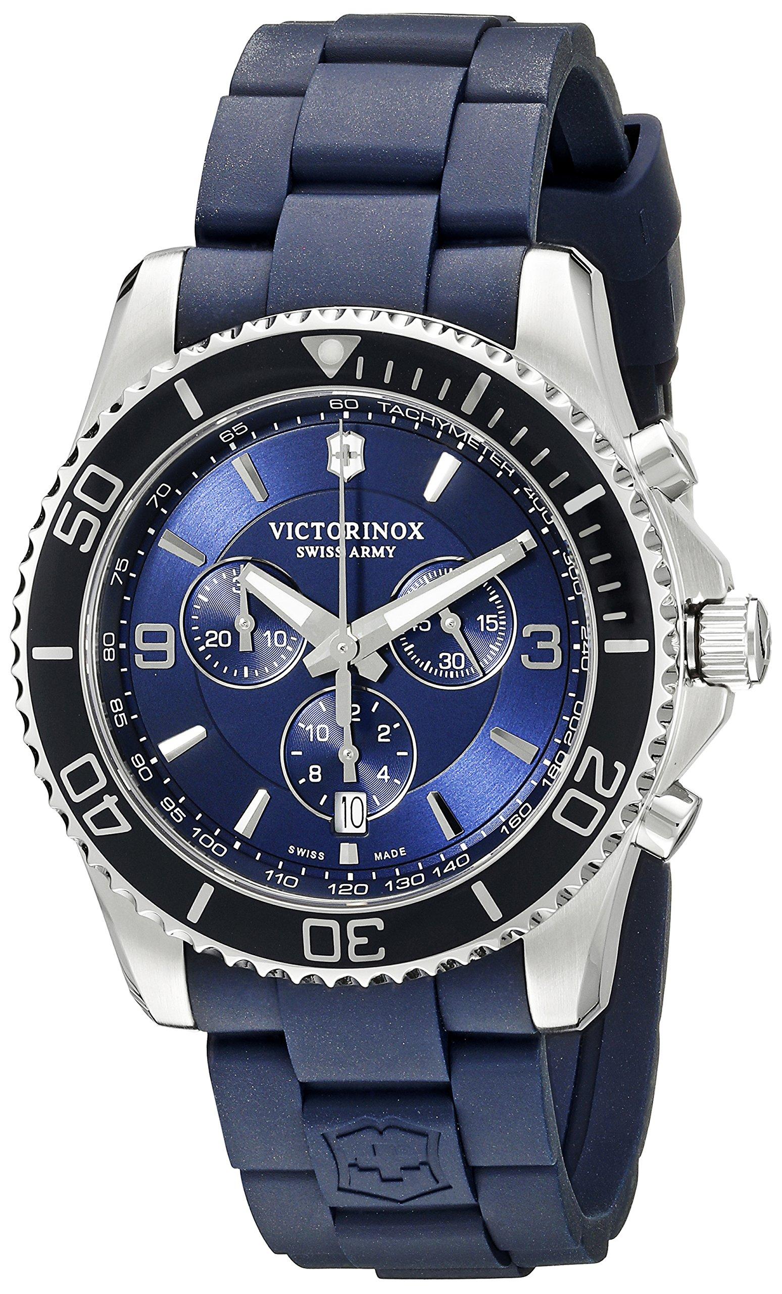 Victorinox Men's 241690 Maverick Chrono Analog Display Swiss Quartz Blue Watch by Victorinox