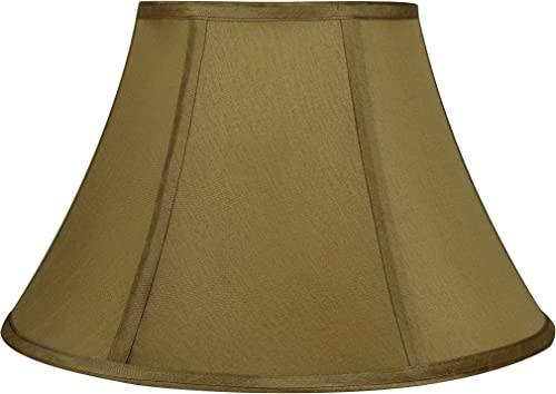 Urbanest Softback Bell Lampshade, Faux Silk, 7-inch by 14-inch by -9inch, Gold, Spider-Fitter