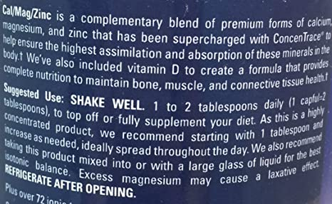 Amazon.com: Trace Minerals, Liquimins Calcium Magnesium Zinc, 16 Ounce: Health & Personal Care