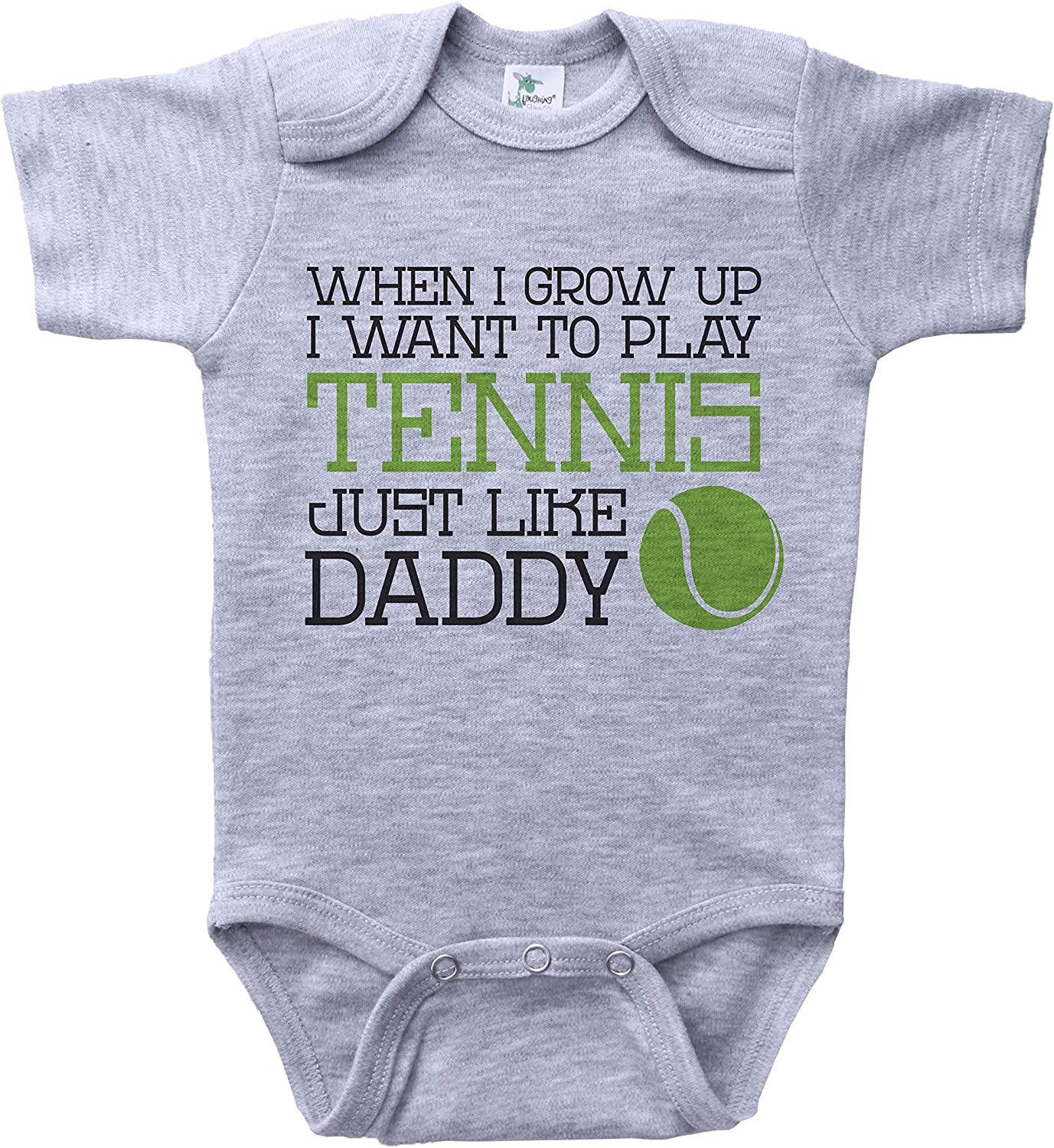 White, 24 Months So Relative Unisex Baby When I Grow Up I Want To Be Just Like Daddy T-Shirt Romper