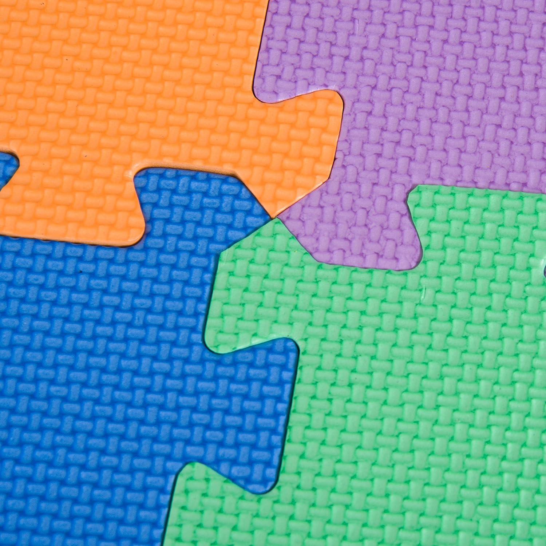 HOMCOM Puzzlematte Spielmatte Spielteppich Puzzle Alphabet Fraktalbild mit