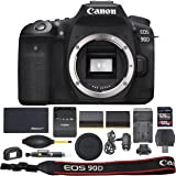 Canon EOS 90D DSLR Camera: (Body Only 3616C002) + ZoomSpeed 128GB High Speed SDXC Memory Card + AOM Pro Bundle - Internationa