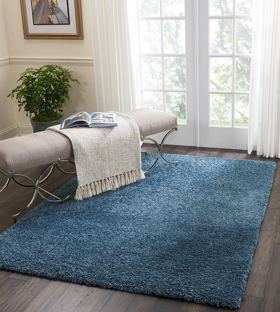 Nourison MSG01 Malibu Shag Area Rug, 53 x 73, BLUE