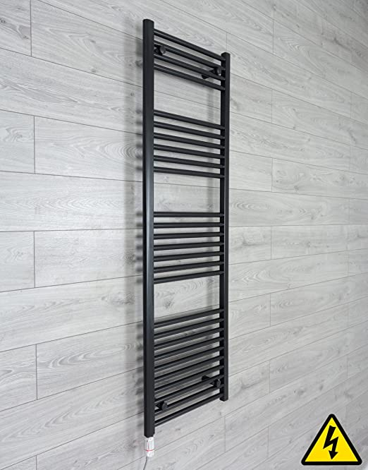 Electric Towel Radiator Thermostatic Chrome or White PRE-FILLED Bathroom Warmer