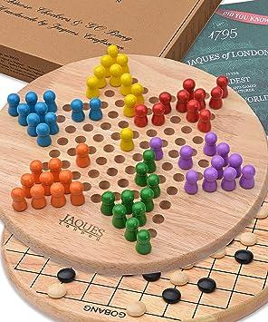 Jaques Damas Chinas Londres con Go Bang Gratis - Juego de Marcha atrás Juego de Damas Genial: Amazon.es: Juguetes y juegos