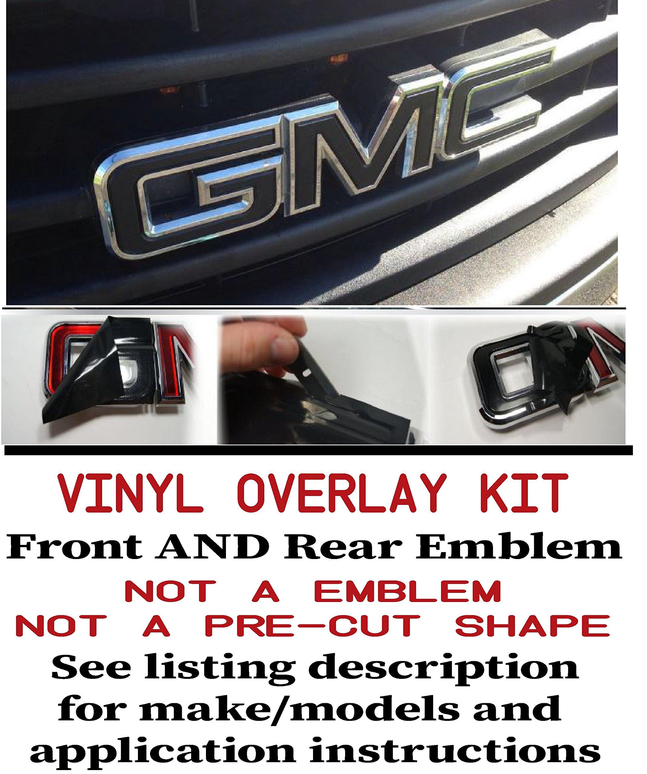 Oracal _ Shop Vinyl Design GMC Front and Rear Emblem Overlay