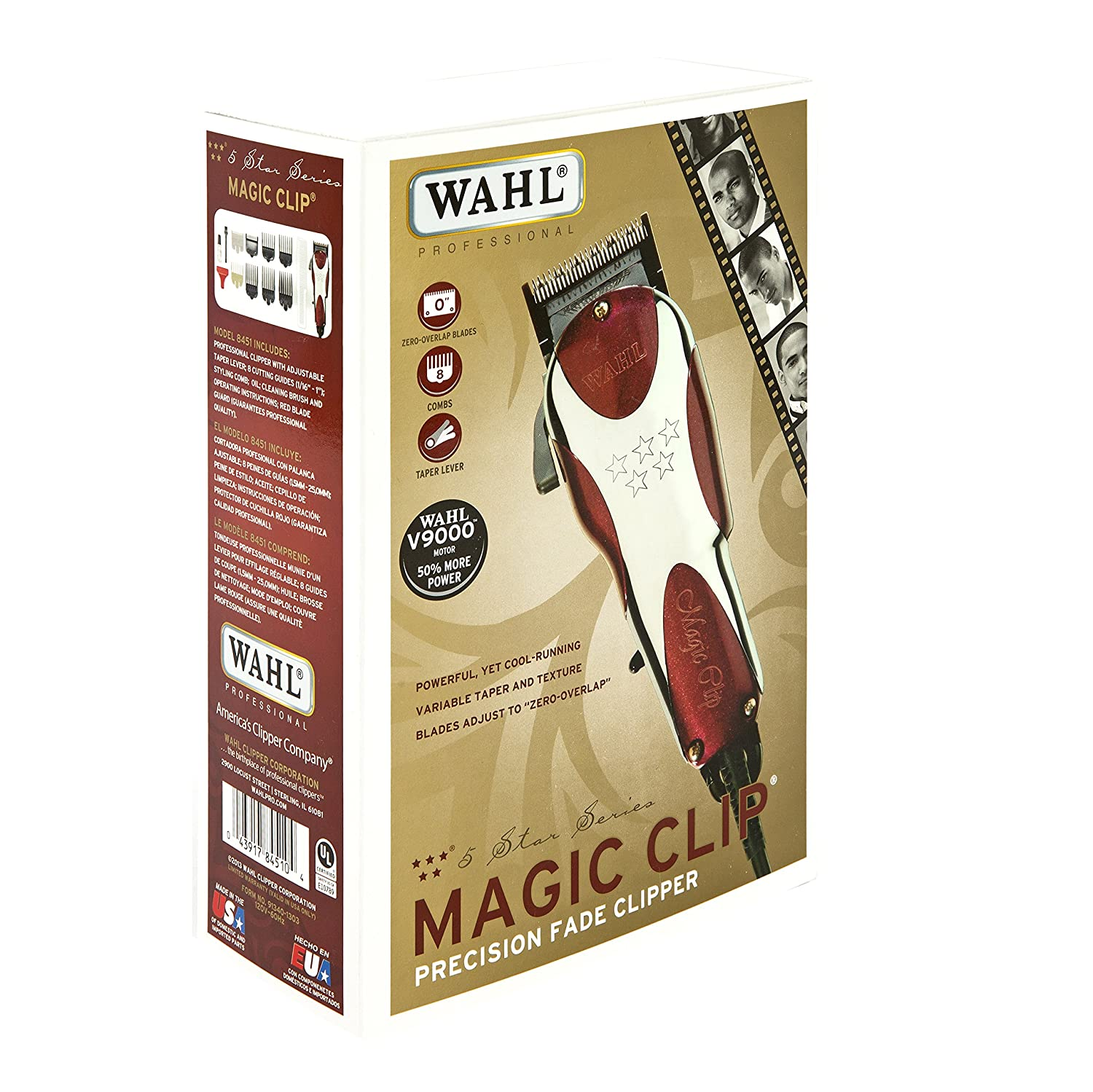 Amazon.com: Wahl Professional 5-Star Magic Clip #8451 – Great for ...