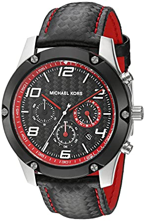 7c56f9db5cf1 Image Unavailable. Image not available for. Color  Michael Kors Men s Caine  Black Watch MK8475