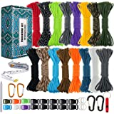 WEREWOLVES Paracord 550 Combo Crafting Kits - Survival Paracord Bracelet Rope Kits - Tent Rope Parachute Cord with Soft…