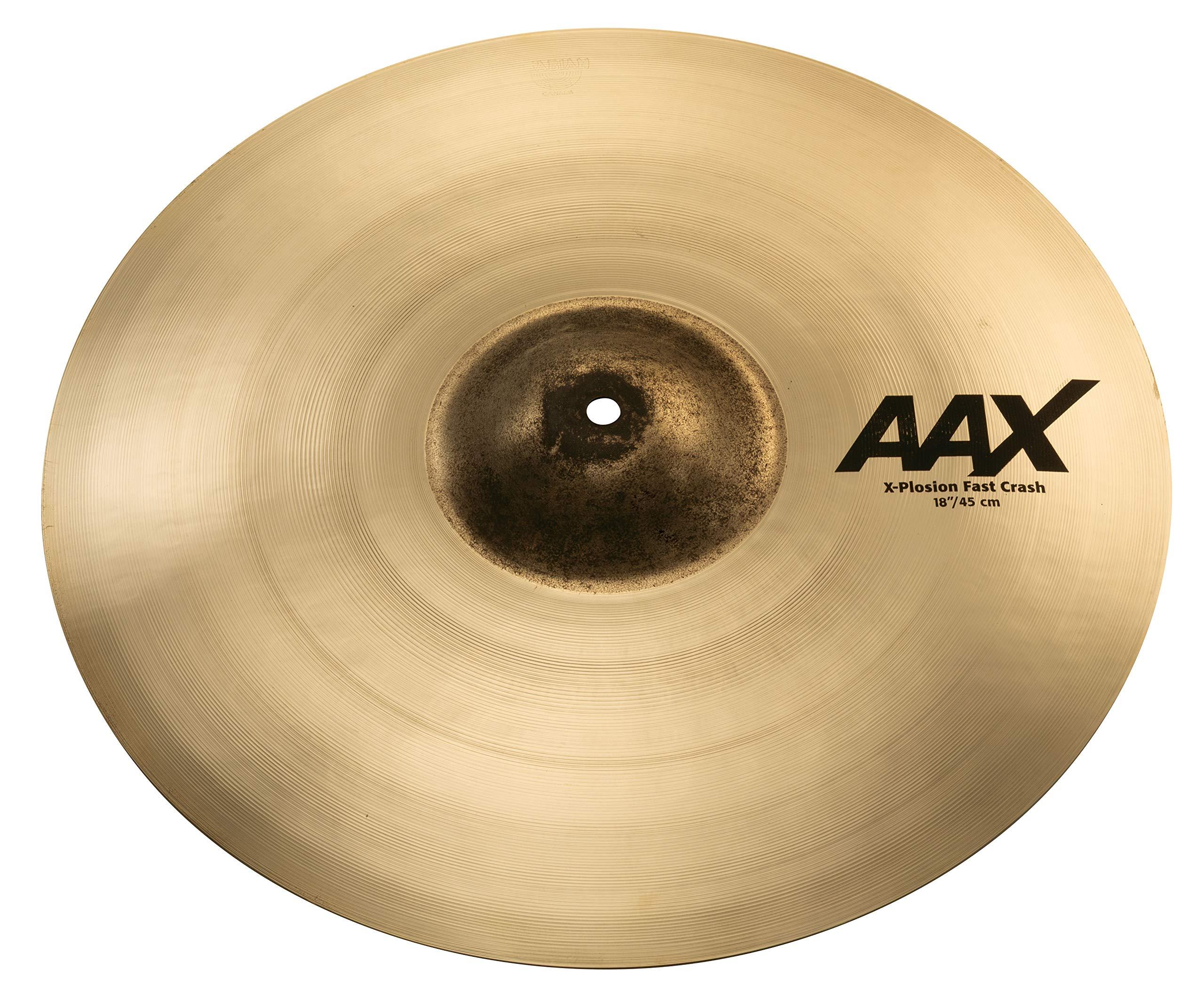 Sabian AAX 18'' X-Plosion Fast Crash Cymbal, Brilliant Finish by Sabian