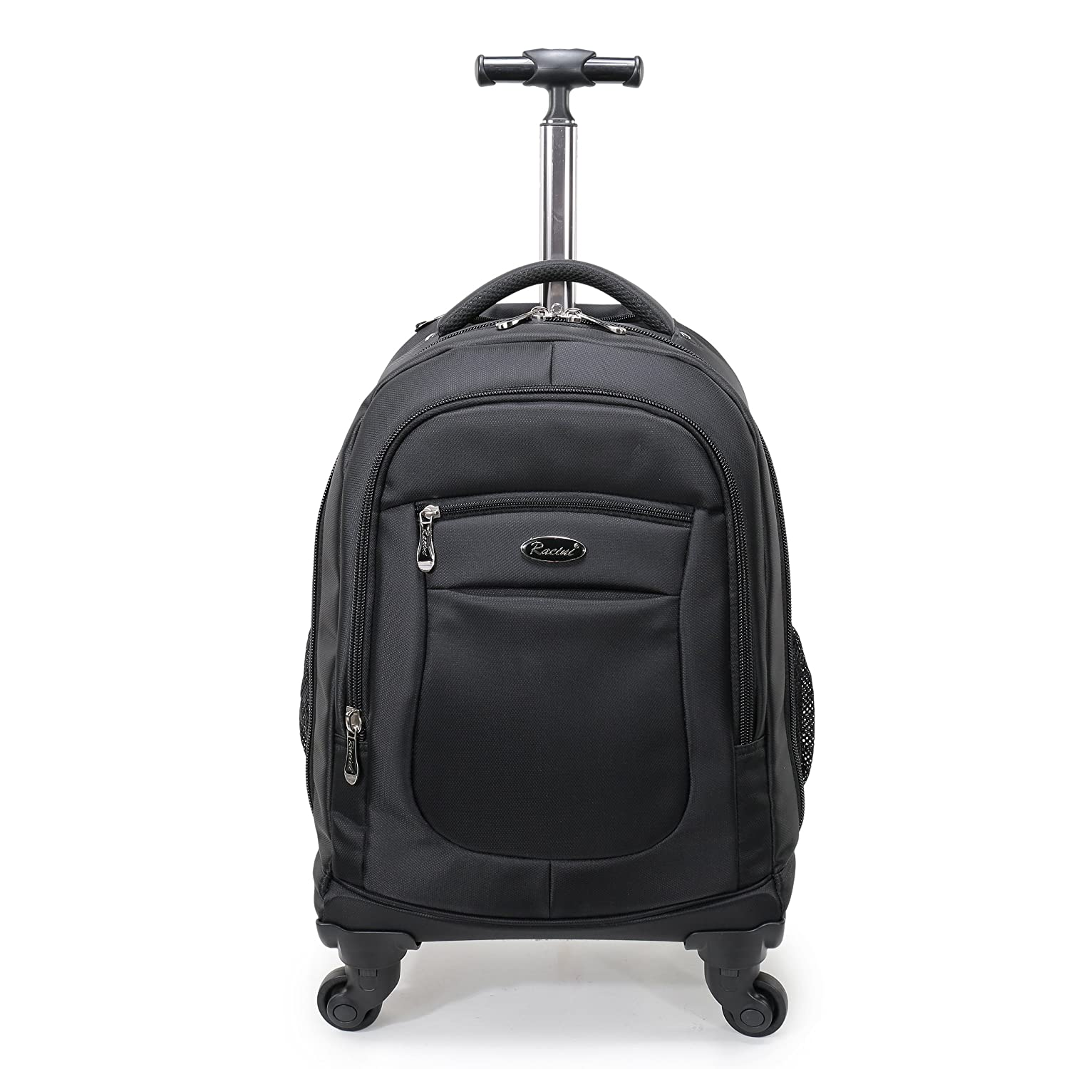 318face09 Amazon.com: Racini Nylon Waterproof Rolling Backpack, Freewheel Travel Wheeled  Backpack, Carry-on Luggage with Anti-Theft Zippers (Black): Sports &  Outdoors
