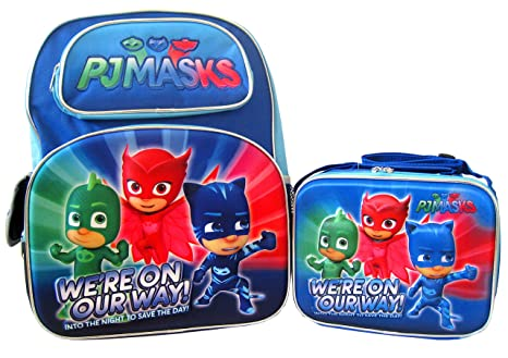 "PJ Masks 3D Pop Up 16"" Backpack and Lunch Box Set - Were"