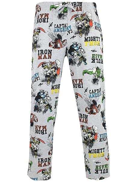 Marvel Pantalones de pijama para Hombre Avengers Gris Small
