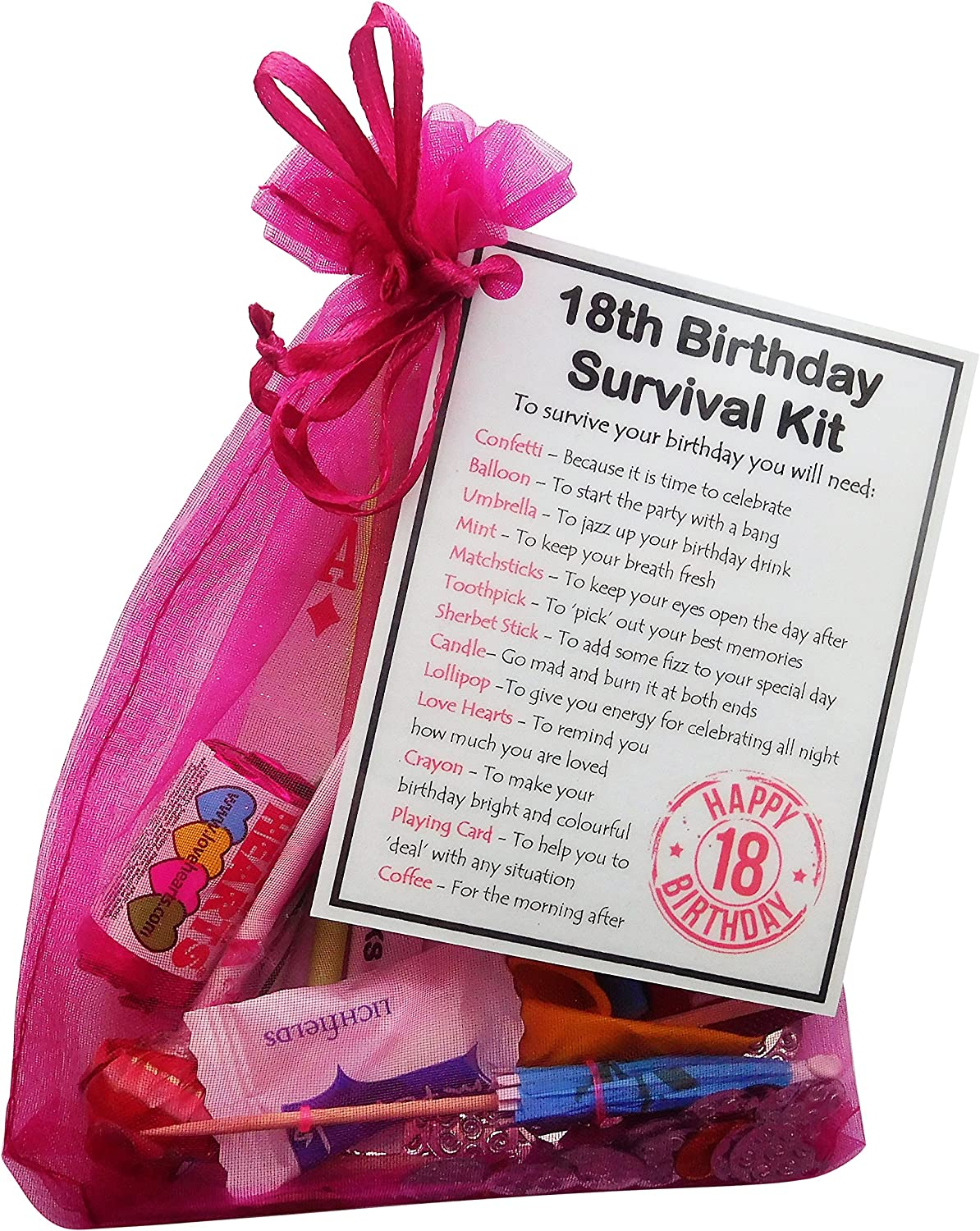 MALE 18th Birthday SURVIVAL KIT Humorous Gift Idea Unusual Fun Novelty Present