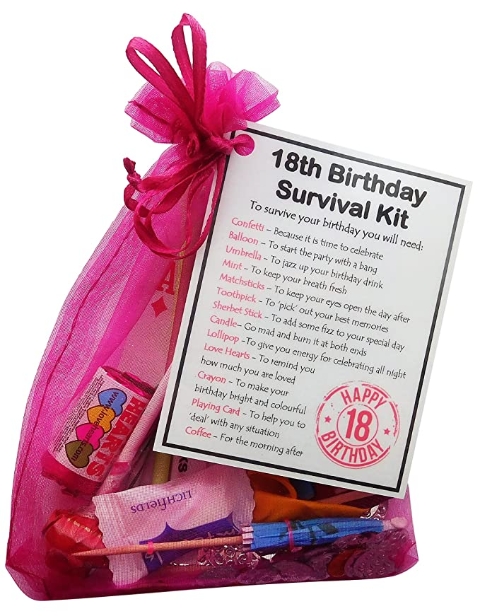 18th Birthday Gifts For Daughter Present Gift Her Sister Your Source SMILE GIFTS UK Unique Survival Kit Hot Pink