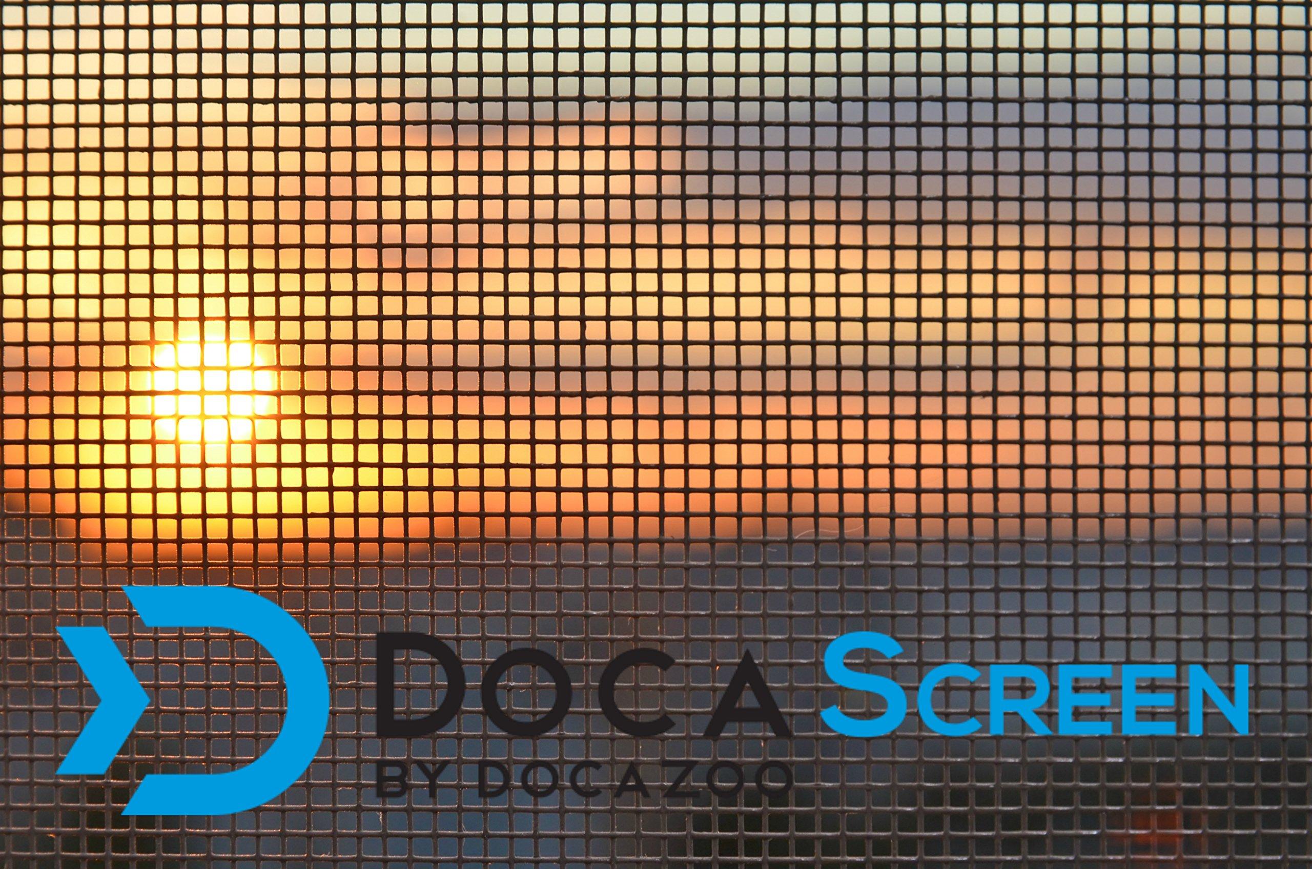 DocaScreen Standard Window Screen Roll - 60'' x 100' Fiberglass Screen Roll - Window, Door and Patio Screen - Insect Screen // Fiberglass Screening // Screen Replacement // Window Screens by DOCAZOO
