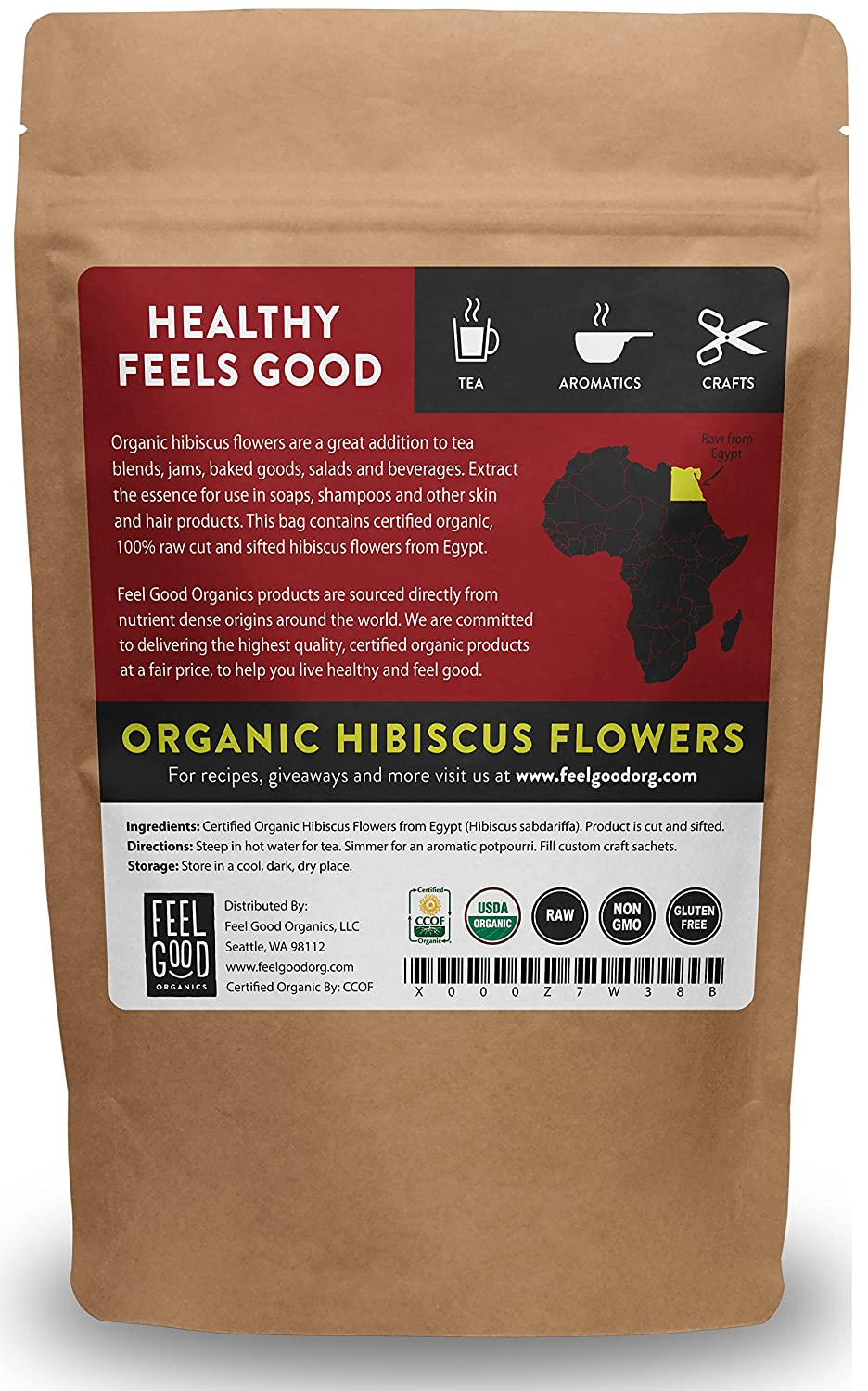 Amazon organic hibiscus flowers cut sifted 8oz amazon organic hibiscus flowers cut sifted 8oz resealable bag 100 raw from egypt by feel good organics grocery gourmet food izmirmasajfo Images