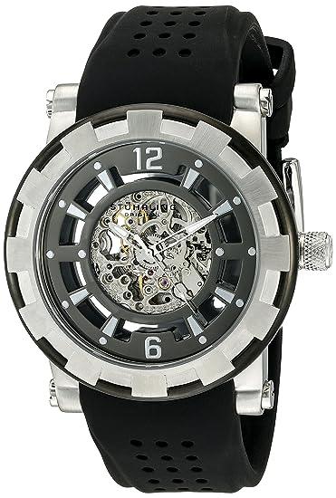Stührling Original 913.01 - Reloj analógico para Hombre, Correa de Silicona, Color Negro: Amazon.es: Relojes
