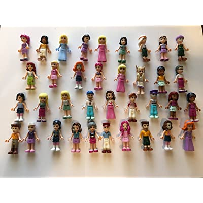 LEGO Friends Girl Female Male Minifigures - Lot of 10 Random Figures: Toys & Games