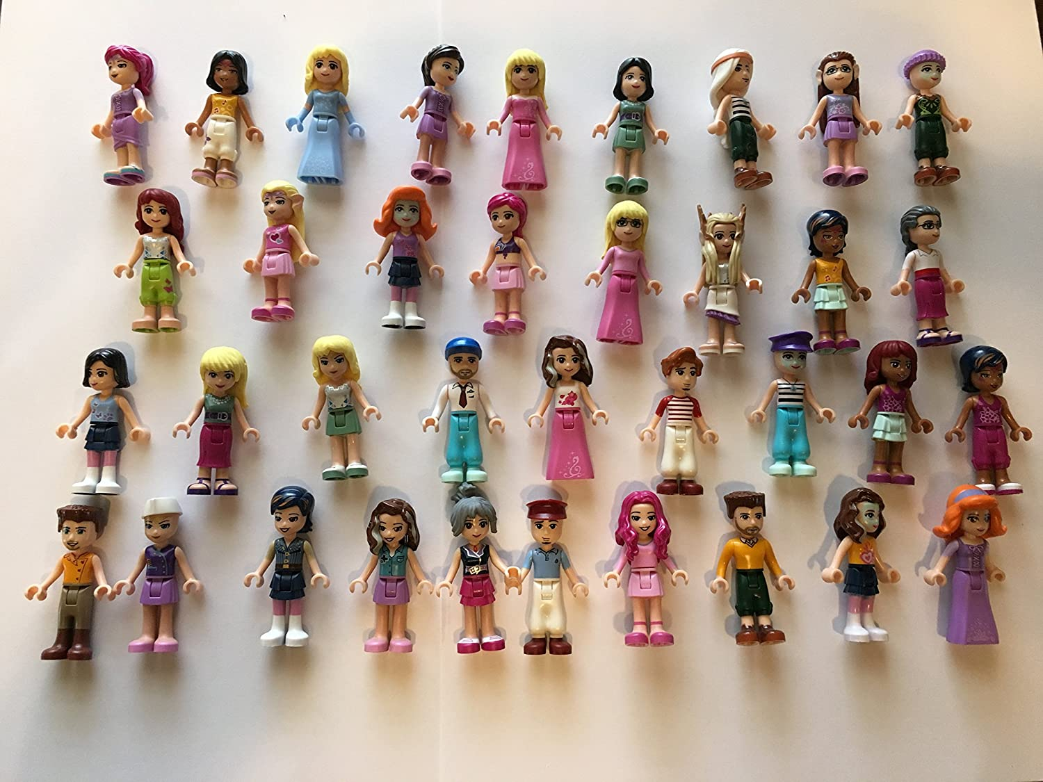 LEGO Friends Girl Female Male Minifigures - Lote de 10 figuras aleatorias
