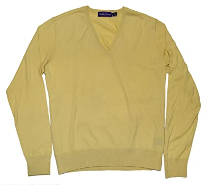 8eadf119f ... australia polo ralph lauren purple label mens cashmere sweater yellow  italy large 8a584 3c7a3