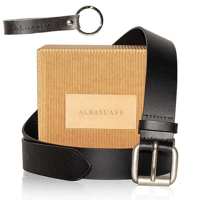 0117a52963 Cintura Uomo in Pelle Nera Vera Made in Italy   Cinta Artigianale per  Pantalone Jeans ...