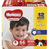 HUGGIES Snug & Dry Diapers, Size 4, 66 Count, BIG PACK (Packaging May Vary)