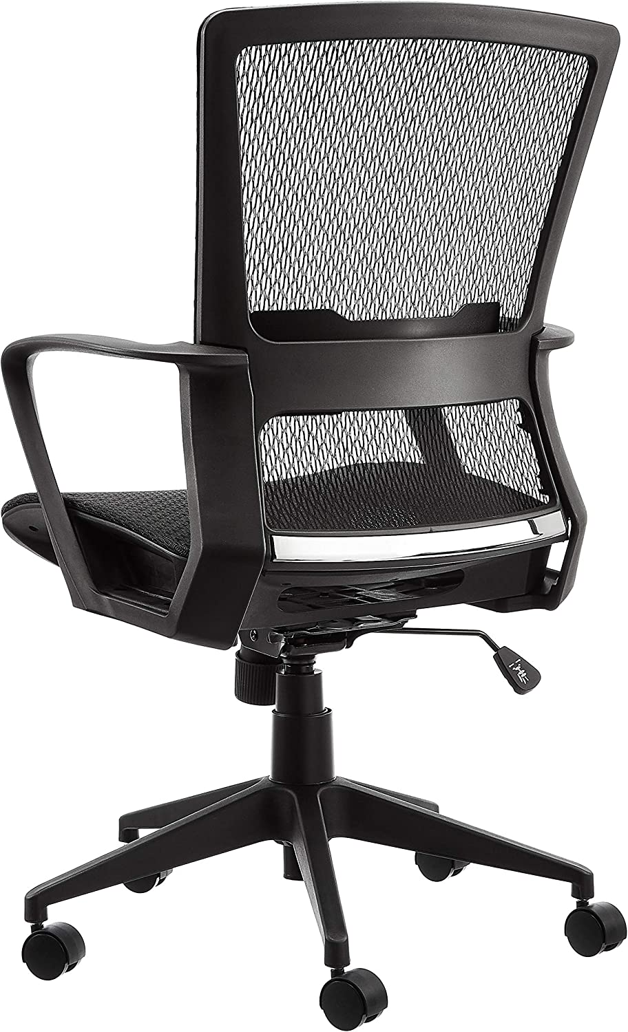 Grey Basics Mid-Back Mesh Chair with Contoured Mesh Seat for Extra Breathability