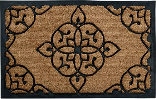 Better Trends Iron Gate Design Coir Door Mat