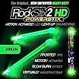 ROCKSTIX 2 HD GREEN, BRIGHT LED LIGHT UP DRUMSTICKS, with fade effect, Set your gig on fire! (GREEN ROCKSTIX)