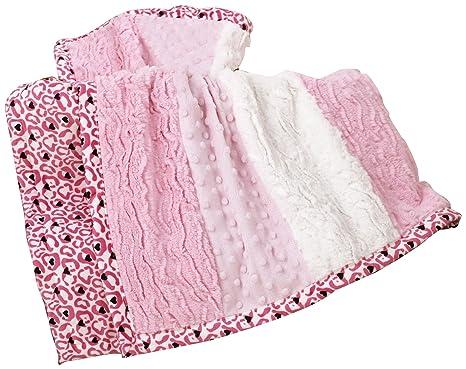 Kids Line Luxury - Manta suave para cochecito, color rosa