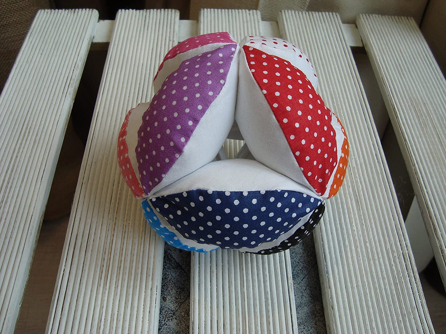 Puzzle ball, Montessori baby toy, fabric ball