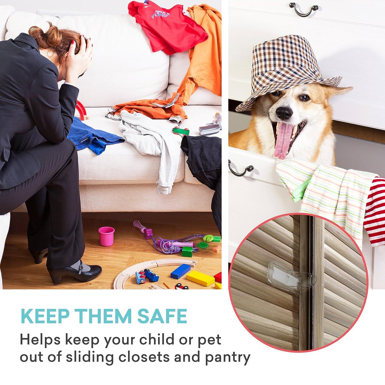 Sliding Door Lock, Baby Proof Closets, Window Locks For Children, Clear, 4  Pack     Amazon.com