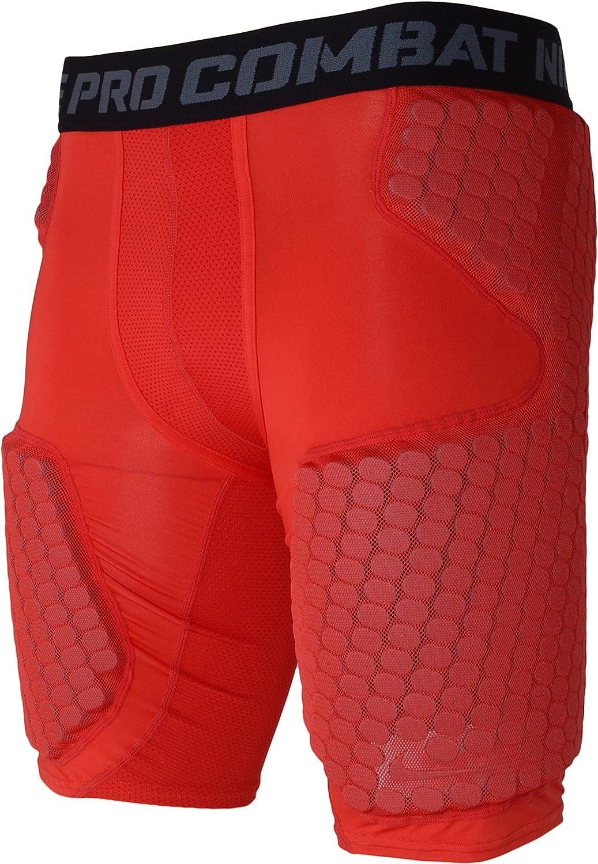 vacío Calificación Prestigio  Amazon.com : Nike Pro Combat Hyperstrong Dri-Fit Padded Compression Shorts  (XL, Red) : Clothing